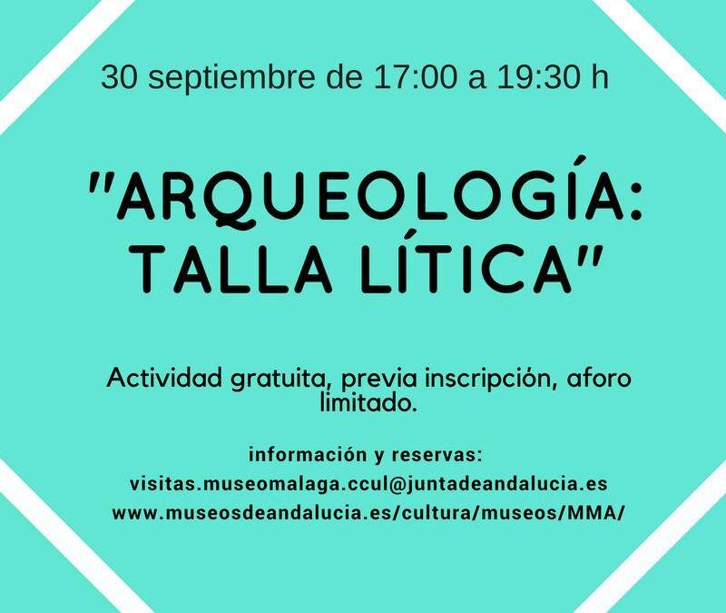 Talla Lítica en el Museo Arqueológico de Málaga 30 de Septiembre